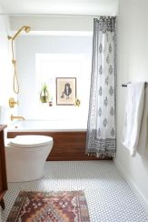 70+ Tiles Ideas for Small Bathroom - Get more Ideas in our gallery | #smallbathroom #bathroomdecoration #bathroomideas #bathroomtiles #bathroomdecor #homedecor (53)
