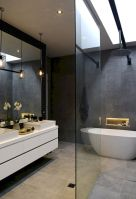 70+ Tiles Ideas for Small Bathroom - Get more Ideas in our gallery | #smallbathroom #bathroomdecoration #bathroomideas #bathroomtiles #bathroomdecor #homedecor (57)