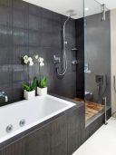 70+ Tiles Ideas for Small Bathroom - Get more Ideas in our gallery | #smallbathroom #bathroomdecoration #bathroomideas #bathroomtiles #bathroomdecor #homedecor (70)