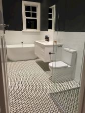 70+ Tiles Ideas for Small Bathroom - Get more Ideas in our gallery | #smallbathroom #bathroomdecoration #bathroomideas #bathroomtiles #bathroomdecor #homedecor (76)