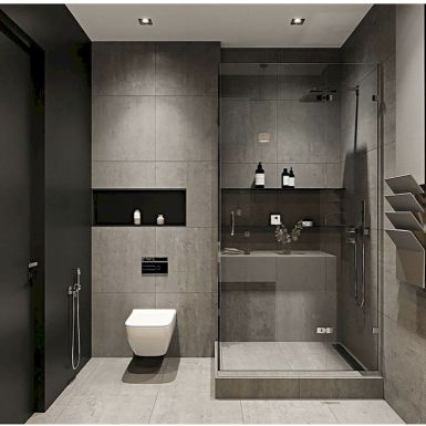 70+ Tiles Ideas for Small Bathroom - Get more Ideas in our gallery | #smallbathroom #bathroomdecoration #bathroomideas #bathroomtiles #bathroomdecor #homedecor (78)