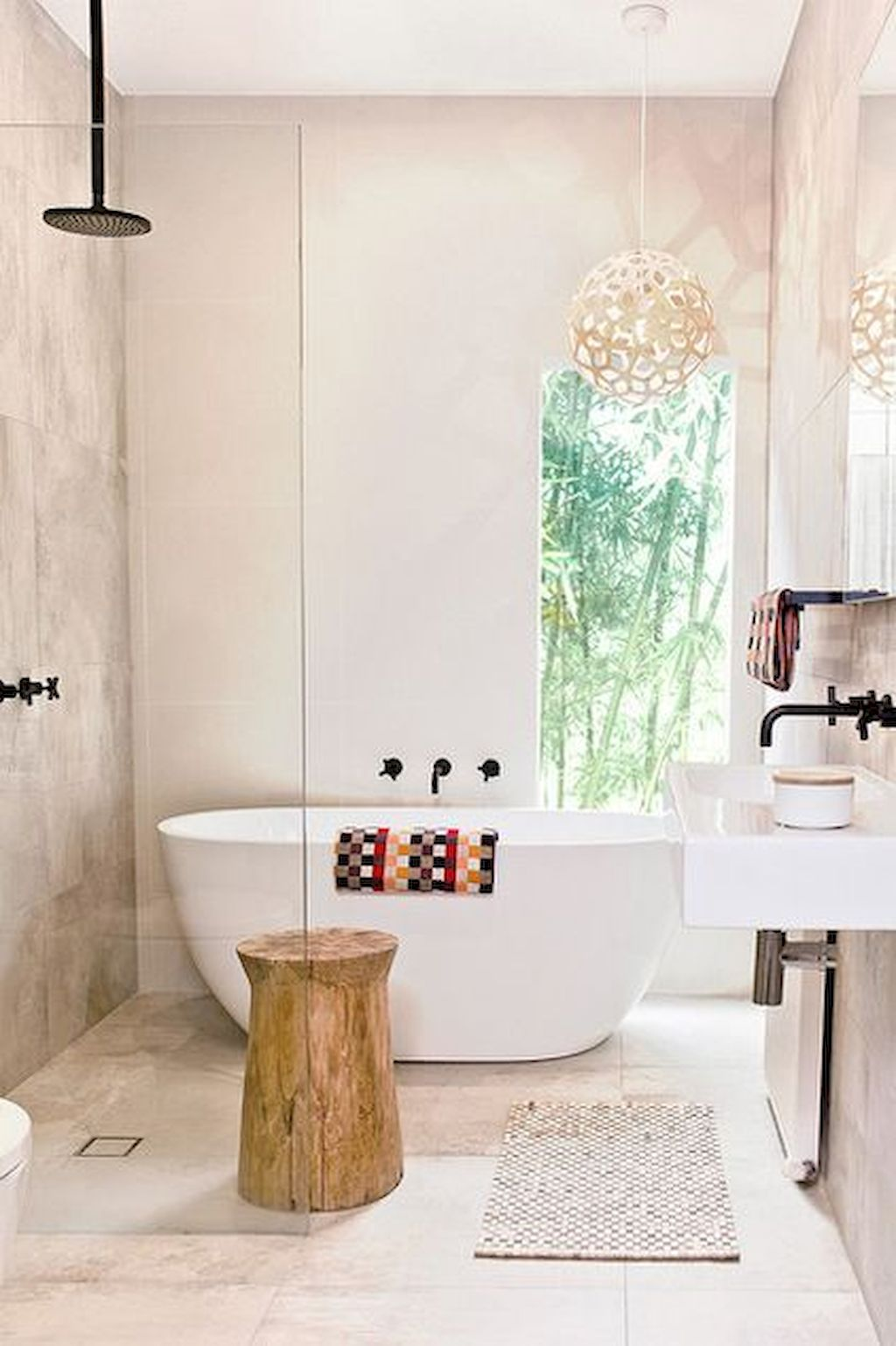 70+ Tiles Ideas for Small Bathroom - Get more Ideas in our gallery | #smallbathroom #bathroomdecoration #bathroomideas #bathroomtiles #bathroomdecor #homedecor (8)