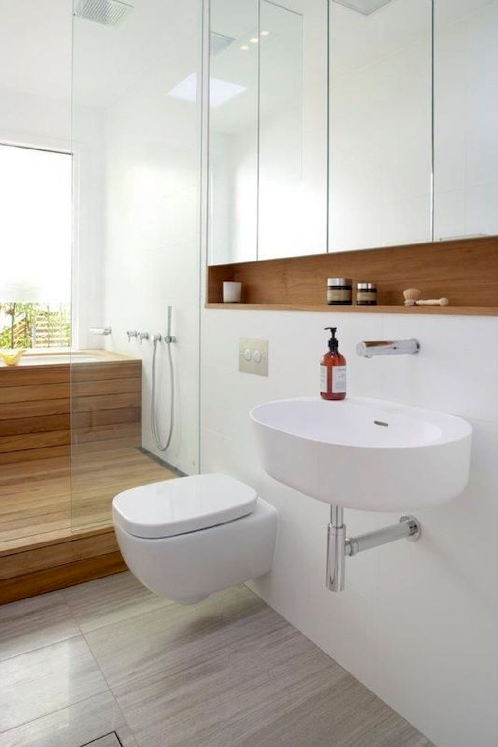 70+ Tiles Ideas for Small Bathroom - Get more Ideas in our gallery | #smallbathroom #bathroomdecoration #bathroomideas #bathroomtiles #bathroomdecor #homedecor (9)