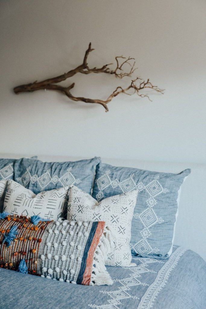 Simple tips for low budget bedroom makeover with classy curtain design and inspiring reading spot. Bedroom Makeover Idea  Part 12