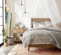Simple tips for low budget bedroom makeover with classy curtain design and inspiring reading spot. Bedroom Makeover Idea Part 29