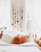 Simple tips for low budget bedroom makeover with classy curtain design and inspiring reading spot. Bedroom Makeover Idea Part 3