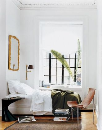 Simple tips for low budget bedroom makeover with classy curtain design and inspiring reading spot. Bedroom Makeover Idea Part 31