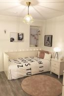 Simple tips for low budget bedroom makeover with classy curtain design and inspiring reading spot. Bedroom Makeover Idea Part 48