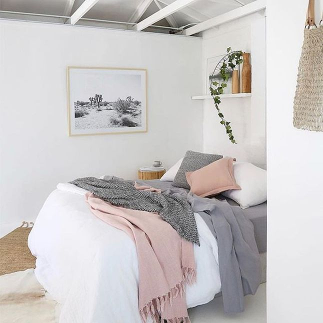 Simple tips for low budget bedroom makeover with classy curtain design and inspiring reading spot. Bedroom Makeover Idea Part 61
