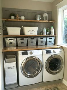 55 Best Small Laundry Room Photo Storage Ideas (14)