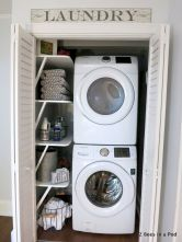 55 Best Small Laundry Room Photo Storage Ideas (22)