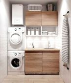 55 Best Small Laundry Room Photo Storage Ideas (35)