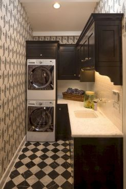55 Best Small Laundry Room Photo Storage Ideas (52)
