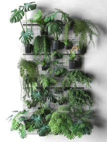 Life Plant Decorations for Indoor in Vertical Hanging Pots Part 71