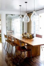 Artistic light fixtures in the cottage style dining room Part 3