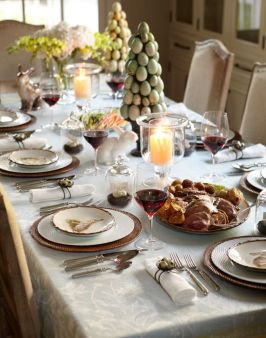 Charming Easter centerpieces and springy table decor ideas to get your Easter party hopping Part 15