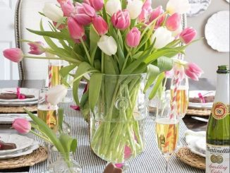 Charming Easter centerpieces and springy table decor ideas to get your Easter party hopping Part 35