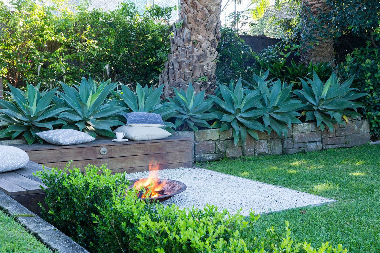 Classic mainstay of an outdoor space with the fire pit many of us would spend fond evenings relaxing around the fire Part 20