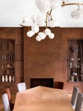Eyecatching light fixtures above the modernclassic dining rooms Part 18