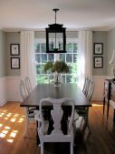 Eyecatching light fixtures above the modernclassic dining rooms Part 23