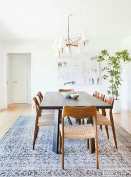 Eyecatching light fixtures above the modernclassic dining rooms Part 27