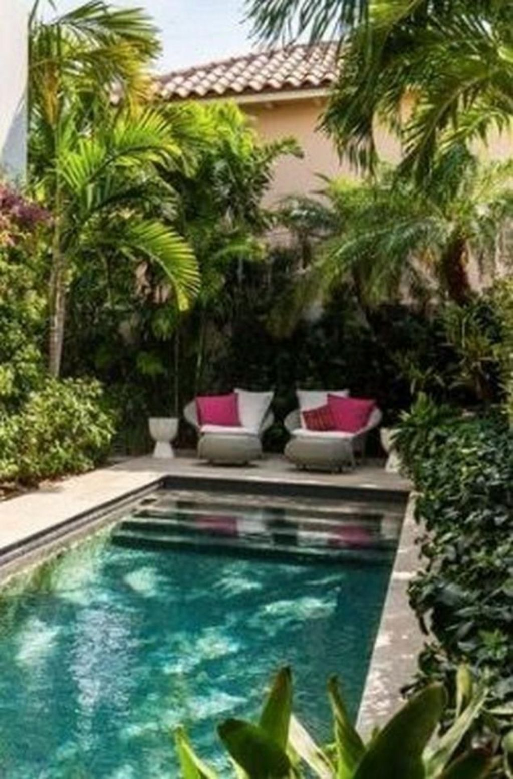 Inground tiny swimming pool in a small backyard that pick the best shape Part 12