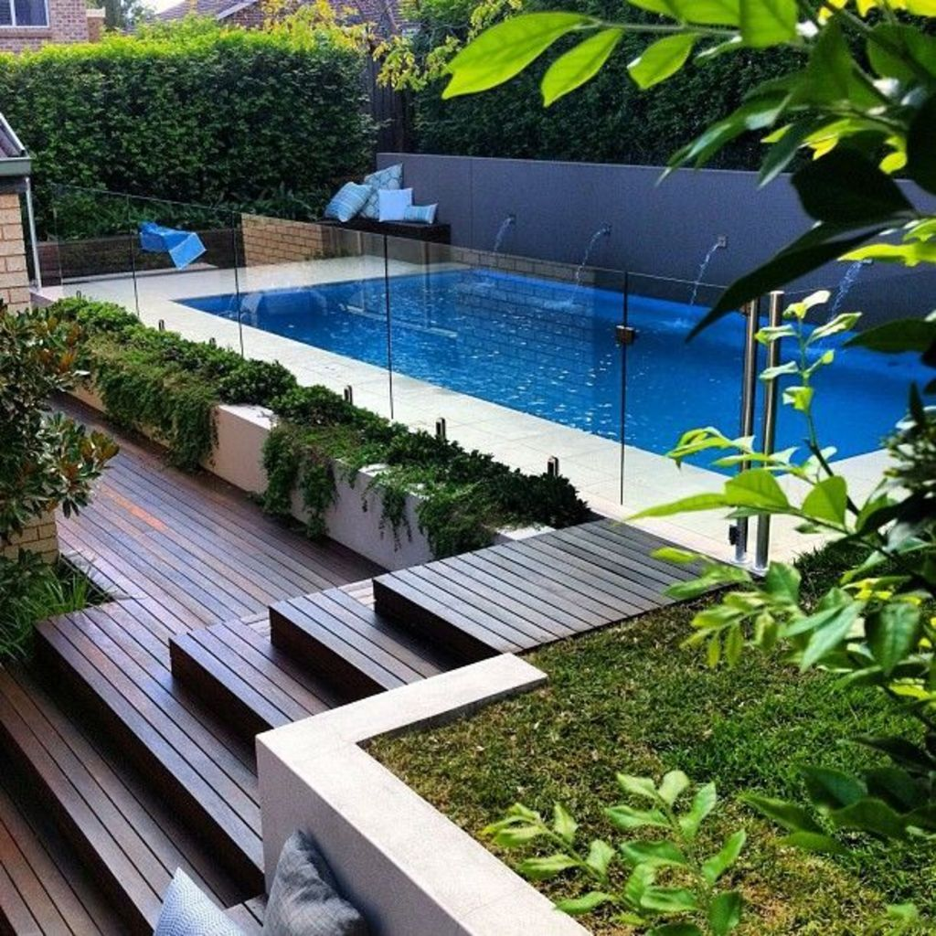 Inground tiny swimming pool in a small backyard that pick the best shape Part 9