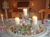 Spring and Easter tablesetting ideas and tablescapes brunch mothers day and springtime table setting ideas Part 4