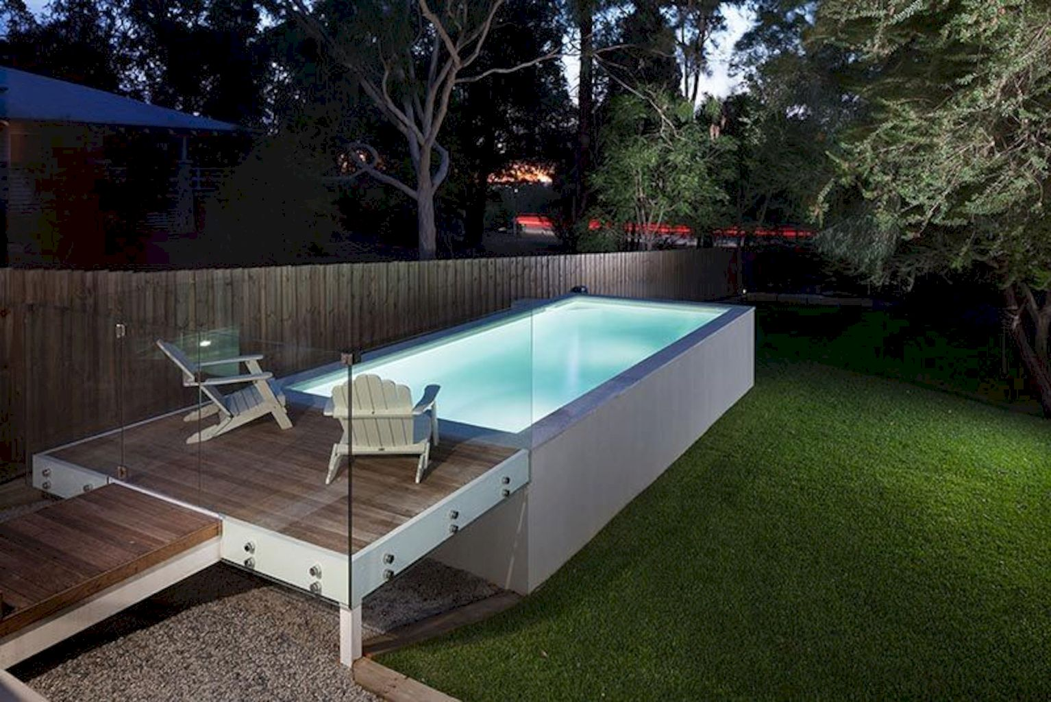 Affordable rectangular pool designs built in small areas that give a lavish look getting along with beautiful landscape (8)