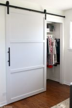 Barn style sliding doors applied as bedroom doors showing a rustic accent in the modern country homes Image 14