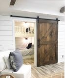 Barn style sliding doors applied as bedroom doors showing a rustic accent in the modern country homes Image 40