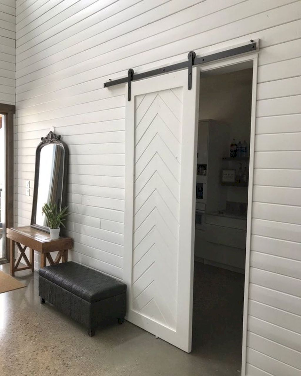 Barn style sliding doors designed to upgrade a rustic look in your farmhouse and rustic home style Image 25