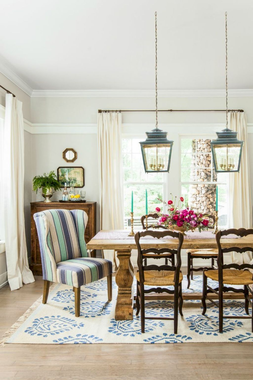 Beach home dining room style giving a fresh vibe among inviting recreational interior update Image 11