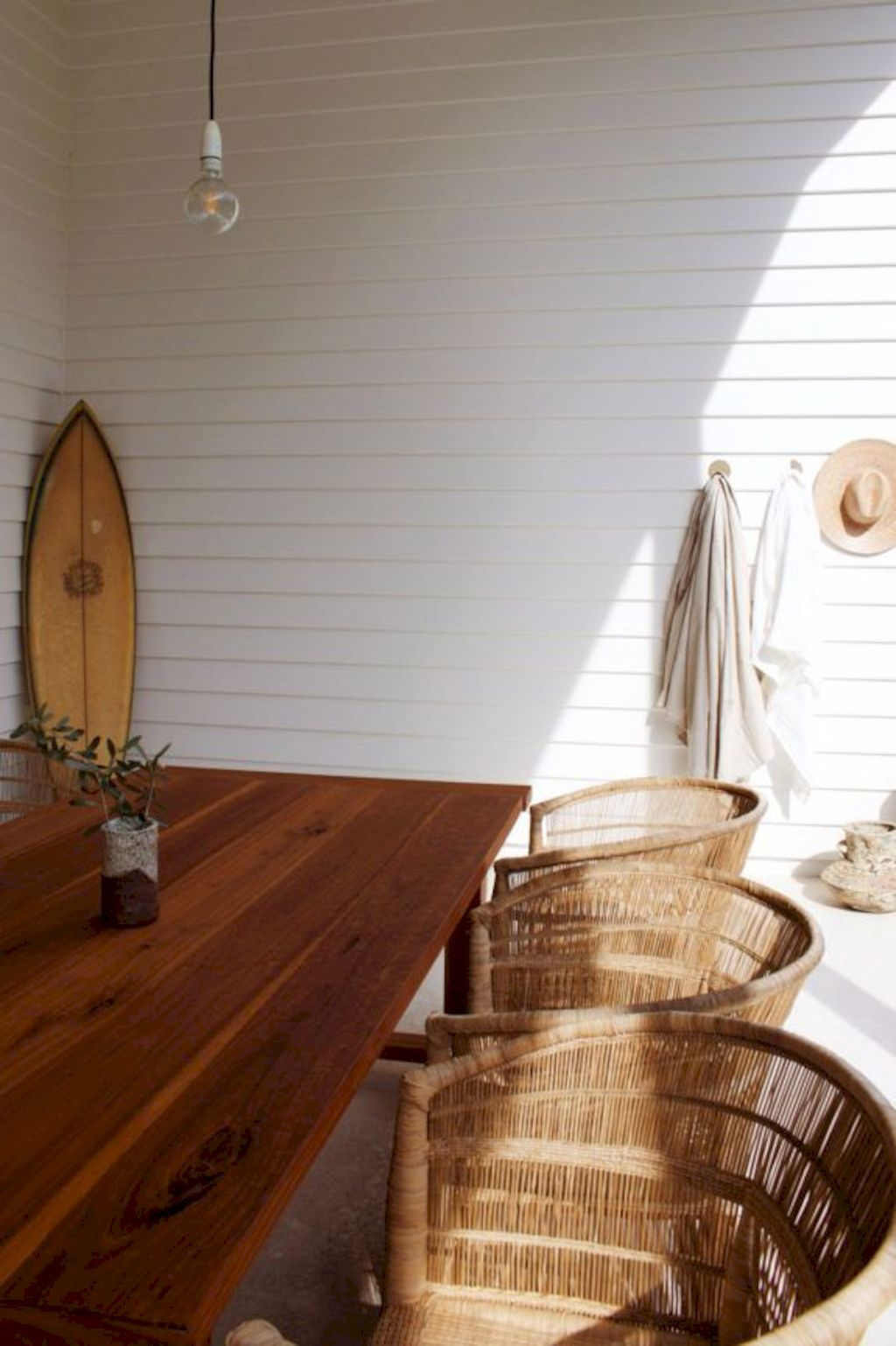 Beach home dining room style giving a fresh vibe among inviting recreational interior update Image 9