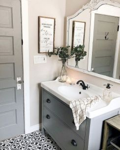 Beautiful bathroom update with eclectic patterned tiles and ethnic rugs very efficient to improve bathroom floor design Image 31