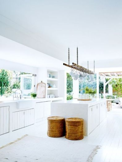 Chic decoration with lots of nautical accents giving a refreshing coastal cottage feel to modern kitchens Image 8
