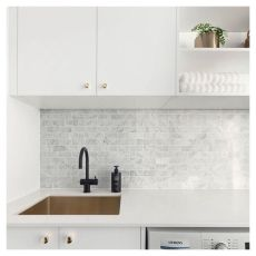 Classy laundry room update with first class finishing to make a functional room that looks elegant and stylish Image 13