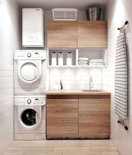 Classy laundry room update with first class finishing to make a functional room that looks elegant and stylish Image 21