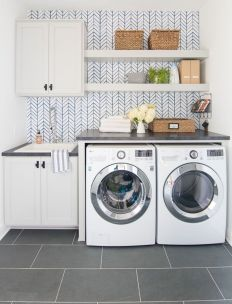 Classy laundry room update with first class finishing to make a functional room that looks elegant and stylish Image 6