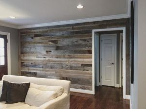 Clever rustic touch exploiting wood pallets wall accent that enhances contemporary home update and also effective in twisting decoration style Image 14