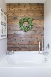 Clever rustic touch exploiting wood pallets wall accent that enhances contemporary home update and also effective in twisting decoration style Image 16