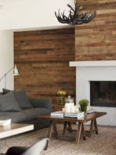 Clever rustic touch exploiting wood pallets wall accent that enhances contemporary home update and also effective in twisting decoration style Image 25