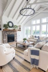 Coastal cottage living area with pure bright schemes outlooking vast sea view giving a complete beach style home Image 4