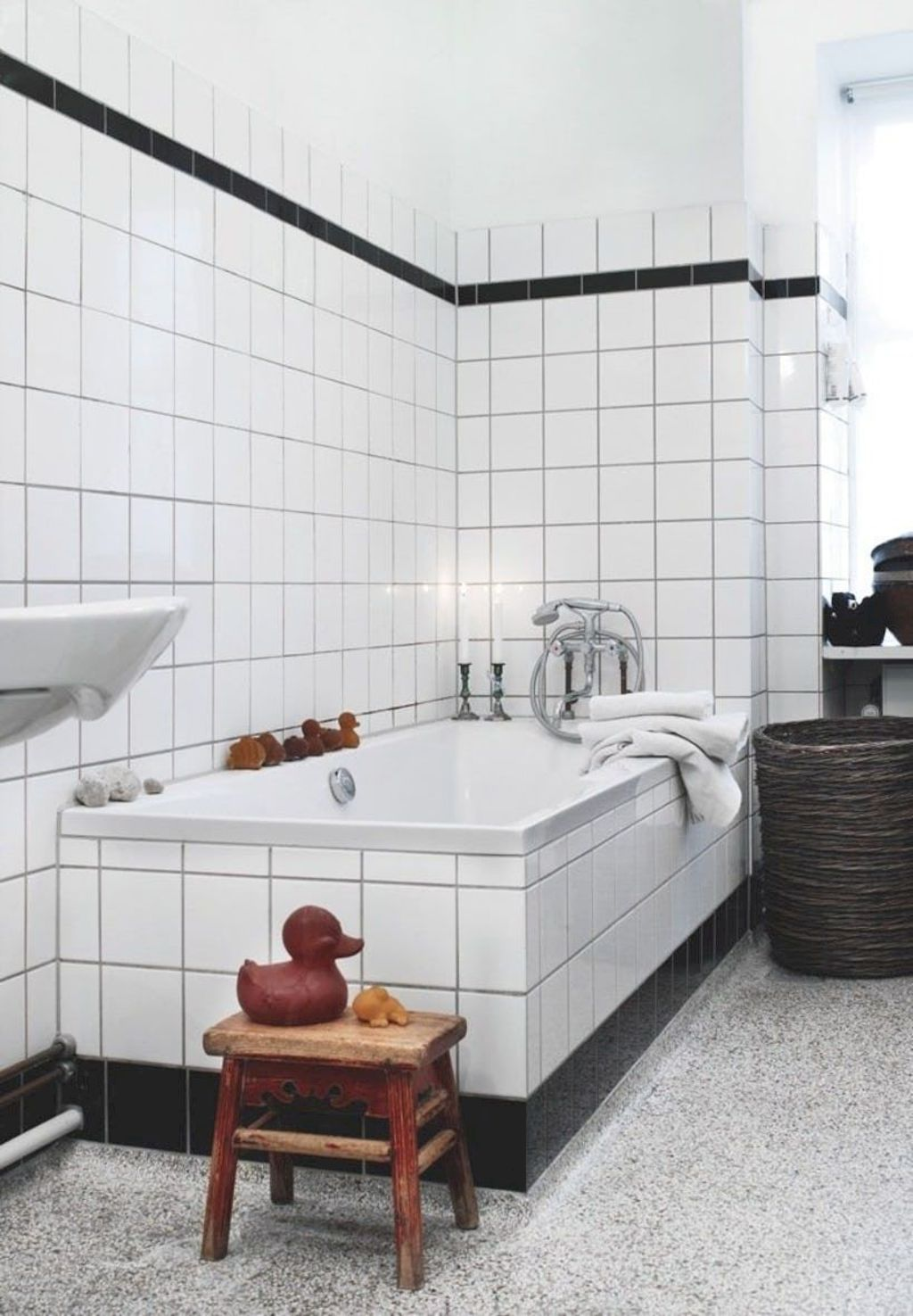 Creative bathroom updates mixing modern trend with simple 60s terrazzo style giving a brilliant contemporary balance Image 10