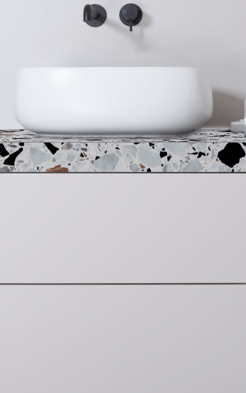 Creative bathroom updates mixing modern trend with simple 60s terrazzo style giving a brilliant contemporary balance Image 14