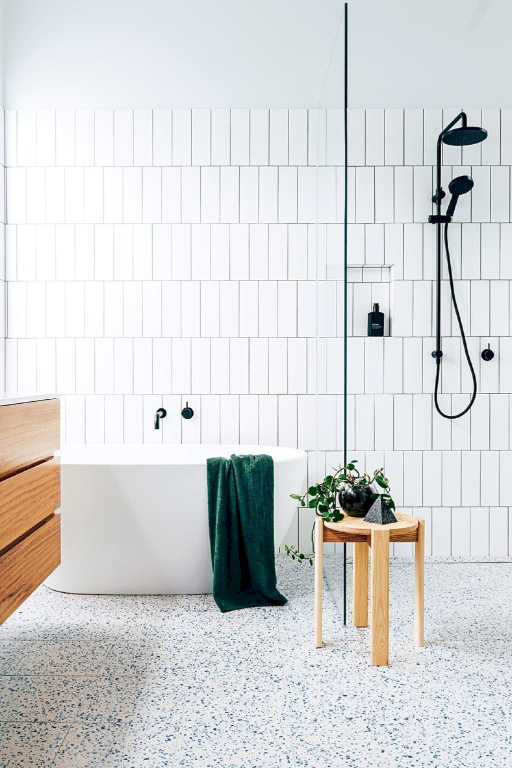 Creative bathroom updates mixing modern trend with simple 60s terrazzo style giving a brilliant contemporary balance Image 17