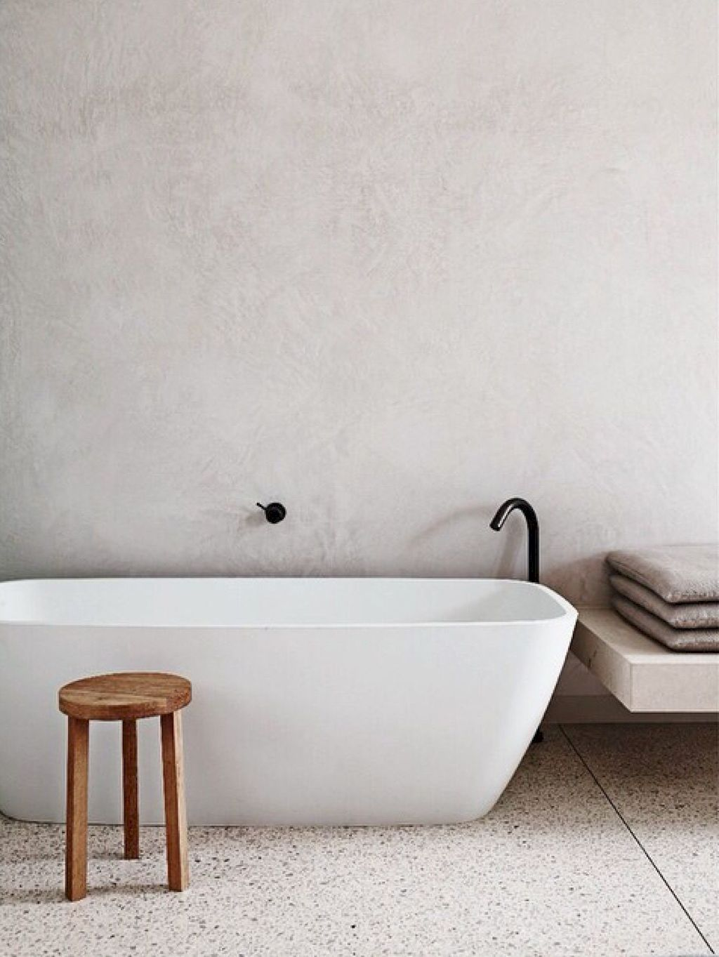 Creative bathroom updates mixing modern trend with simple 60s terrazzo style giving a brilliant contemporary balance Image 20