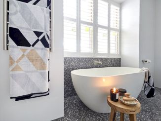 Creative bathroom updates mixing modern trend with simple 60s terrazzo style giving a brilliant contemporary balance Image 6