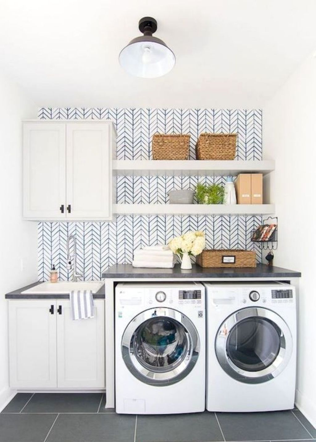Easy tricks to make a Scandinavian style laundry room which will give a perfect refreshment in simple and sleek designs Image 17
