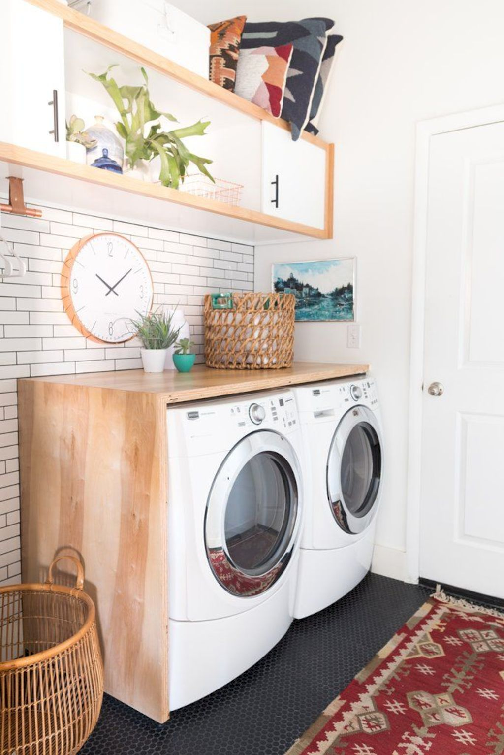 Easy tricks to make a Scandinavian style laundry room which will give a perfect refreshment in simple and sleek designs Image 24